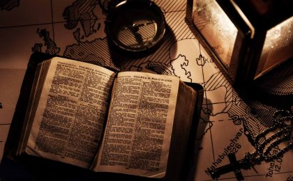 a bible and a cross